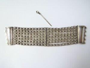 Vintage Silver Bedouin Yemeni Turkey Middle Eastern Multi Chain Cuff Bracelet