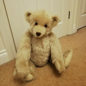 """DEAN'S FRANK WEBSTER LIMITED EDITION ARTIST BEAR CORRIGAN 23"""" MOHAIR WITH GROWL"""