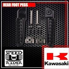 REAR BACK BLACK FOOT PEGS PASSENGER SET KAWASAKI NINJA ZX6R ZX9R ZX10R EX650 ER6