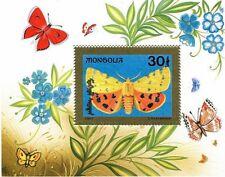 MONGOLIA 1992 BUTTERFLIES / insects S/S MNH  SC.#2083 CV$6.50 (3D1223)