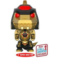 "Dragonzord Black & Gold 6"" Pop Vinyl Figure Television #535 Power Rangers NYCC 2"