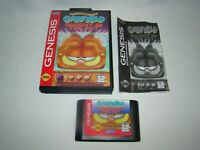 Sega Genesis Garfield: Caught in the Act game cartridge w/ case & manual, tested