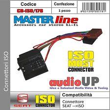 CONNETTORE AUTORADIO ISO PER SEAT ALTEA DAL 2005 IN POI - CONNETTORI MASTERLINE