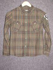 DIESEL Colorful Plaids Cotton Kid's Shirt SZ M