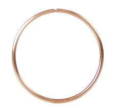 14K Solid Rose Gold 10mm Open Nose Hoop Nose Ring Earring Body Piercing Jewelry