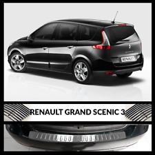 Renault Grand Scenic Mk III Estate Rear Bumper Chrome Protector Stainless Steel