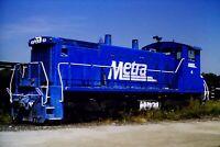 Original Slide Metra Railroad METX 4 Switcher Blue Island, IL 1994 Dick Campbell