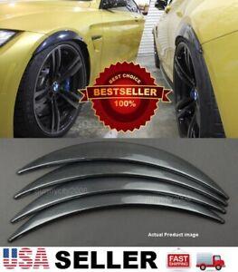 "2 Pairs Carbon Effect 1"" Diffuser Wide Fender Flares Extension For VW Porsche"