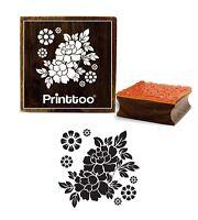 Printtoo Platz Craft Holz Stempel Blumenmuster Briefmarken Schrott-Anmeldung