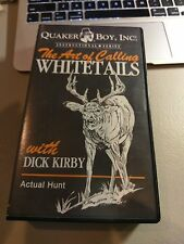 Quaker Boy presents The Art Of Calling Whitetails Dick Kirby  Hunting VHS Tape