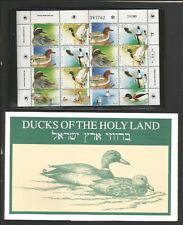 Israel #1025 Sheet MNH VF Ducks of The Holy Land>World Stamp Expo.1989 W/Folder