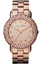 NEW MARC JACOBS MBM3192 LADIES ROSE GOLD SWAROVSKI MARCI WATCH - 2 YEAR WARRANTY