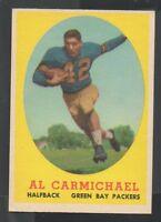 1958 Topps Football Card #31 Al Carmichael-Green Bay Packers