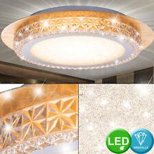 Luxus LED Decken Leuchte Ess Zimmer Sternen Effekt Lampe Kristall Strahler Gold