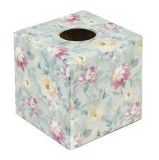Tissue Box Cover wooden cube  / square Emma print handmade in UK