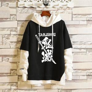 Anime Demon Slayer Kimetsu no Yaiba Women Hoodies Hooded Coat Sweatshirt Cosplay
