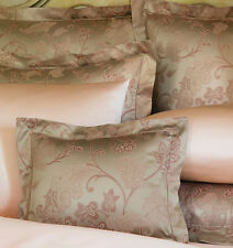 Sferra BELLANCA 2 Pc. Boudoir Sham Egyptian Cotton Sateen Jacquard Nougat New