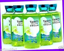 5 Bath & Body Works TAHITI ISLAND DREAM Shea Shower Gel Body Wash COCONUT MUSK