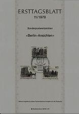 """Berlin MiNr 578-580 ETB 11-78 """"Berlin-Ansichten (II)"""" -Bauwerke-Kirche-Hochhaus-"""