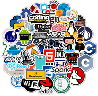 50 PCS Laptop Sticker Programming Technology Software Programs Data Computer