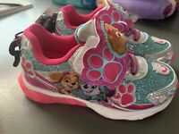 Girls Nickelodeon Paw Patrol Light Up Shoes - Slip On - Size:  8 & 11