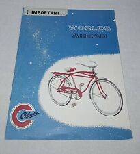 VINTAGE 1960'S COLUMBIA BICYCLE BIKE COLOR CATALOG BROCHURE