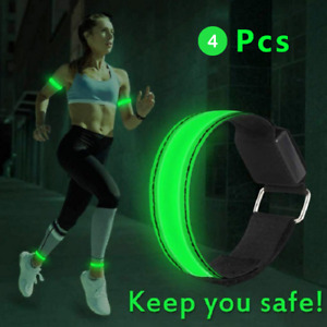 USB Luminous LED Night Running Armband Bracelet Reflective Safety Outdoor Sports