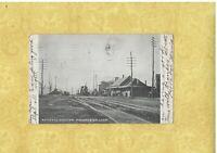 CT Manchester 1906 antique postcard RAILROAD STATION CONN to Bridgeport