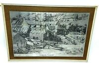 Vintage Print on Metal Wendron Forge Cadgwith, Cornwall w Original Frame