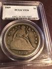 1869 Seated Liberty Dollar PCGS VF20
