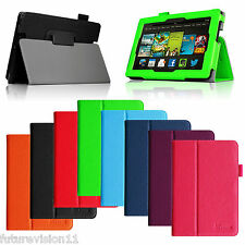 """For New Amazon Kindle Fire HDX 7"""" inch Leather Case Cover Stand Auto Wake/Sleep"""