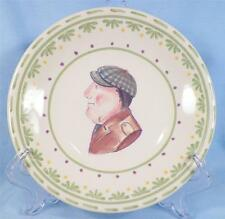 5 Pfaltzgraff Circle of Kindness Bread & Butter Plates Canape People Caricatures