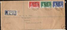 CEYLON REGISTED FDC 1937 CORONATION