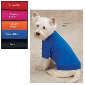 Dog Basic T-Shirt Tee Top Zack & Zoey Red Blue Black Orange Raspberry Pink Pet
