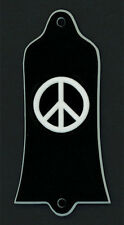 GUITAR TRUSS ROD COVER - Custom Engraved - Fits GIBSON USA - PEACE - Black