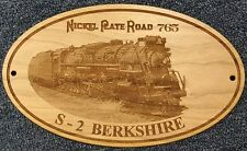 Nickel Plate Railroad #765 S-2 Engraved Wooden Sign // Father's Day
