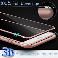 New Metal Edge For Apple iPhone 7 Plus Rose Gold Screen Protector Tempered Glass