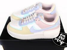Nike Air Force 1 AF1 W Shadow Pastel Blue Pink Ghost UK 3 4 5 6 7 8 9 US New