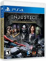 Injustice Gods Among Us Ultimate Edition Superhero Game Sony Playstation 4 PS4
