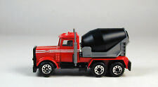 Matchbox Peterbilt Cement Mixer Red Cab No Package