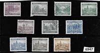 Complete WWII stamp set / B a M German Occupation / Architecture / Third Reich
