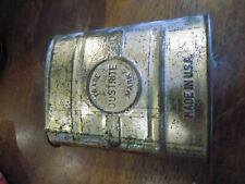 JUST-RITE JUSTRITE   Carbide Coal Miner's Pocket Tin - Flask - Bottle - Can