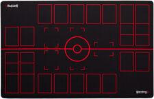 GMC Deluxe 2 Player Black Red Pokemon Training Stadium Mat Board Playmat