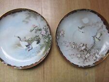 Comme neuf/Meiji/apanese/bleu coquille d'œuf/Rimpa paire de plaques, Chargeurs, 6 in (environ 15.24 cm) diam