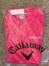 Callaway SDJGA Women's XL Neon Pink Opti-Shield Golf Polo 50 UV Protection NWT