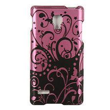 T-Mobile LG Optimus L9 HARD Protector Case Snap Phone Cover Purple Black Swirl