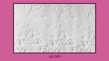 Texture embossing acrylic Rolling Pin No 102 Cats for sugar craft
