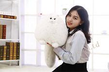 RunningMan White Persian Cat Plush Stuffed Soft Toys Doll Baby Kids Gift