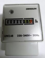 Grasslin UWZ48 220-240V 50hz 7 digit hour counter UWZ48A