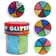 Kids Craft Glitter Tubs Pots Shaker Multi Colours Neon Generic Foil Stars Crafts